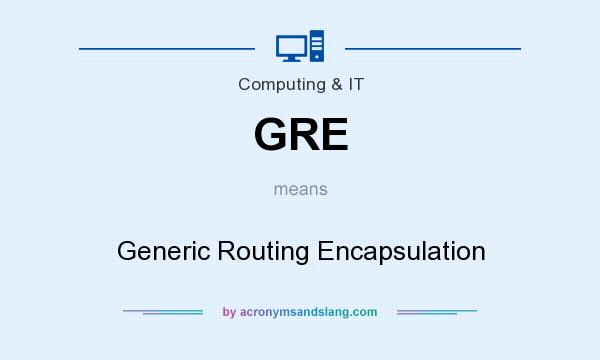 What does GRE mean? It stands for Generic Routing Encapsulation