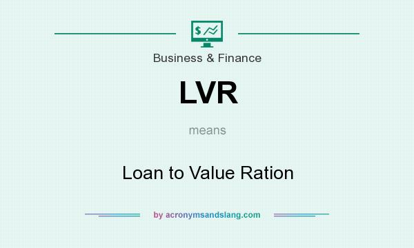 What does LVR mean? It stands for Loan to Value Ration