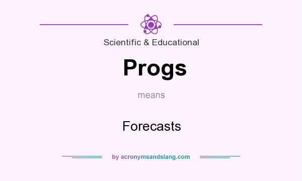 What does Progs mean? It stands for Forecasts