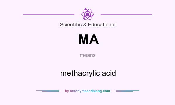 What does MA mean? It stands for methacrylic acid
