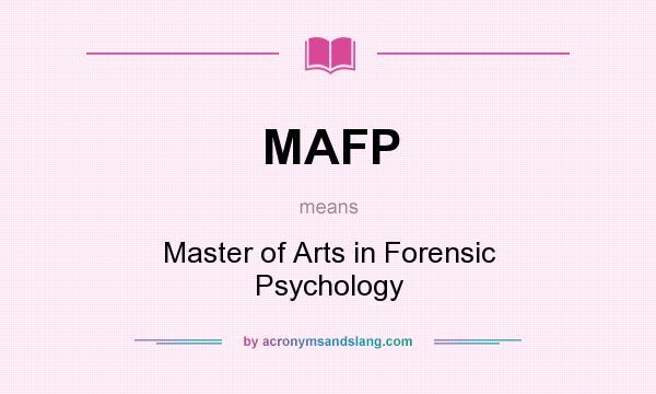 Mafp Master Of Arts In Forensic Psychology By Acronymsandslang Com