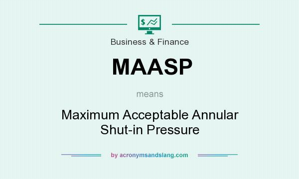 What does MAASP mean? It stands for Maximum Acceptable Annular Shut-in Pressure