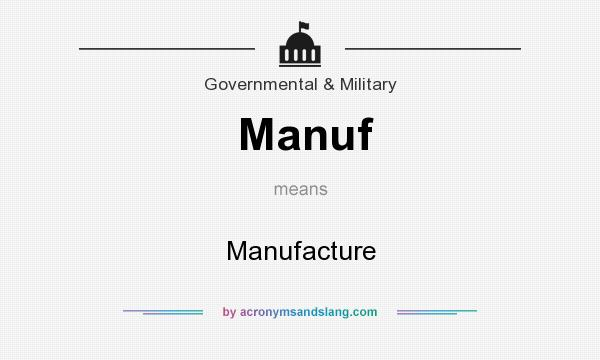 What does Manuf mean? It stands for Manufacture
