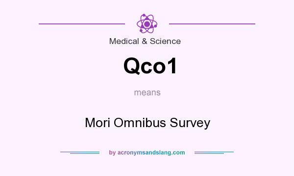 What does Qco1 mean? It stands for Mori Omnibus Survey