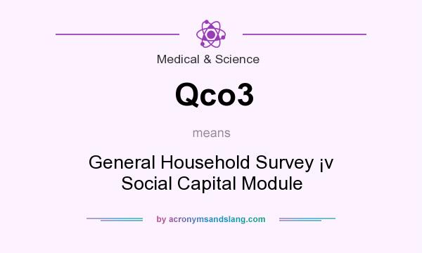 What does Qco3 mean? It stands for General Household Survey �v Social Capital Module