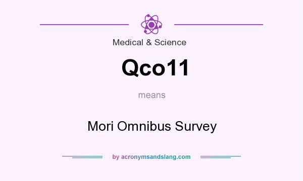 What does Qco11 mean? It stands for Mori Omnibus Survey