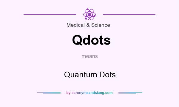What does Qdots mean? It stands for Quantum Dots