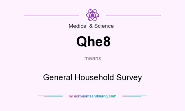 What does Qhe8 mean? It stands for General Household Survey