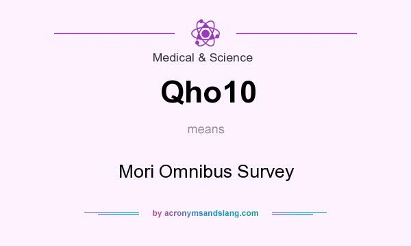 What does Qho10 mean? It stands for Mori Omnibus Survey