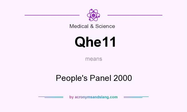 What does Qhe11 mean? It stands for People`s Panel 2000