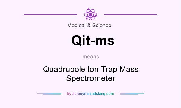 What does Qit-ms mean? It stands for Quadrupole Ion Trap Mass Spectrometer