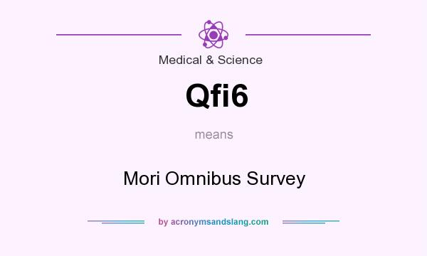 What does Qfi6 mean? It stands for Mori Omnibus Survey