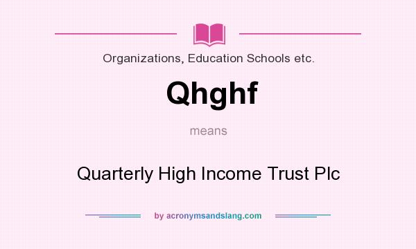 What does Qhghf mean? It stands for Quarterly High Income Trust Plc