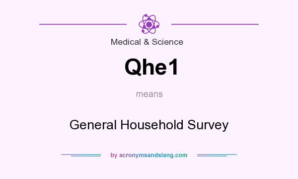 What does Qhe1 mean? It stands for General Household Survey