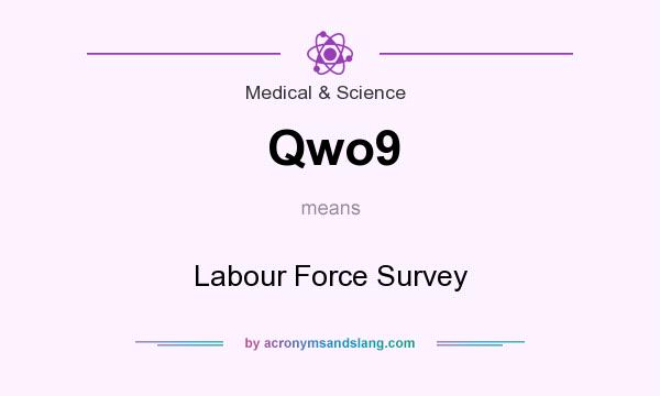 What does Qwo9 mean? It stands for Labour Force Survey