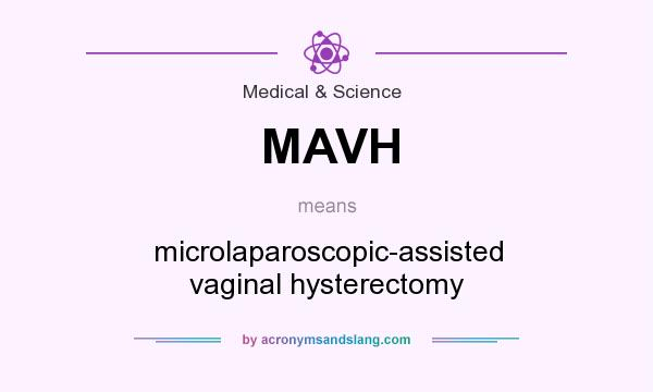 What does MAVH mean? It stands for microlaparoscopic-assisted vaginal hysterectomy