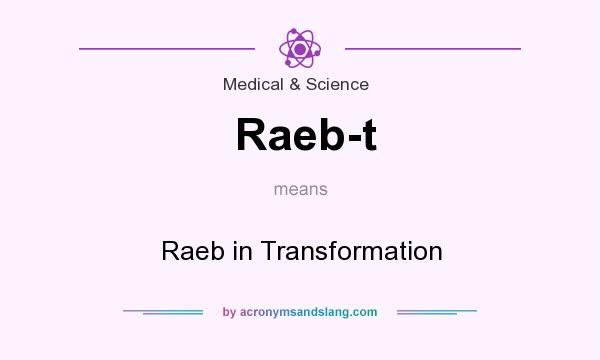 What does Raeb-t mean? It stands for Raeb in Transformation