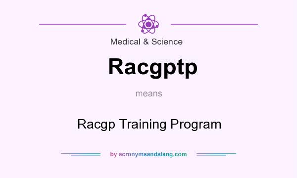 What does Racgptp mean? It stands for Racgp Training Program