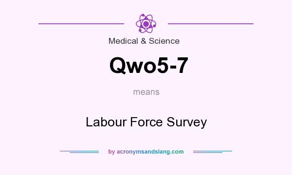 What does Qwo5-7 mean? It stands for Labour Force Survey