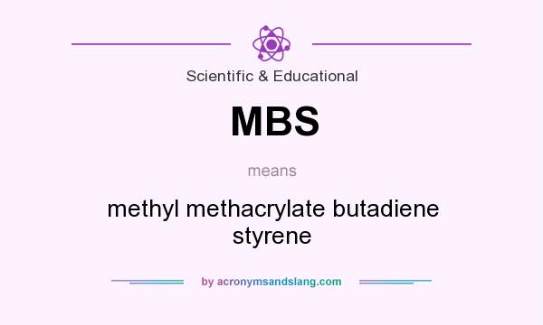 What does MBS mean? It stands for methyl methacrylate butadiene styrene