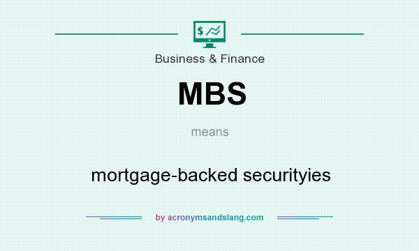 What does MBS mean? It stands for mortgage-backed securityies