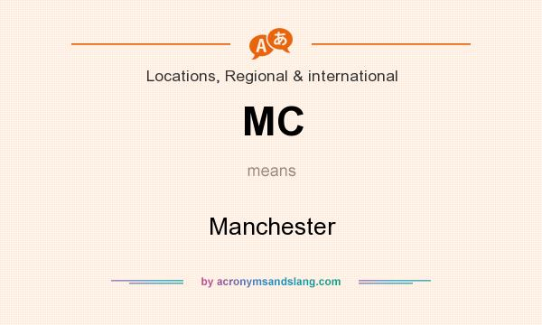 What does MC mean? It stands for Manchester
