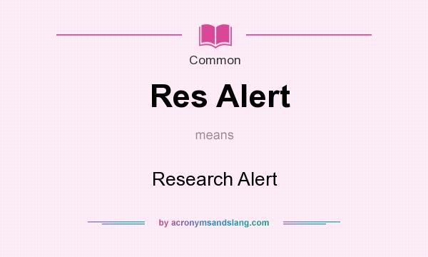 research alert Research alerts are provided by the library department at the institute for work & health to help people keep abreast of recent literature in the areas of occupational health and safety, return to work.
