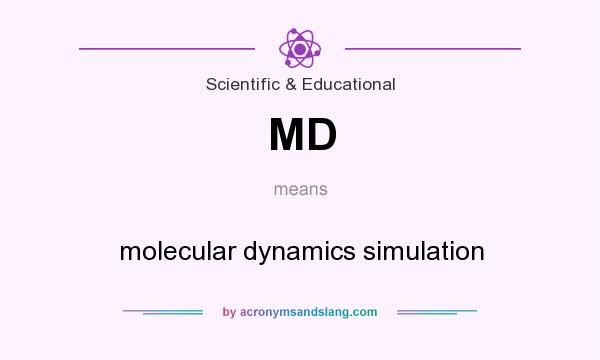 What does MD mean? It stands for molecular dynamics simulation