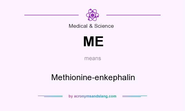 What does ME mean? It stands for Methionine-enkephalin
