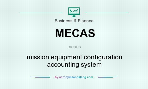 What does MECAS mean? It stands for mission equipment configuration accounting system