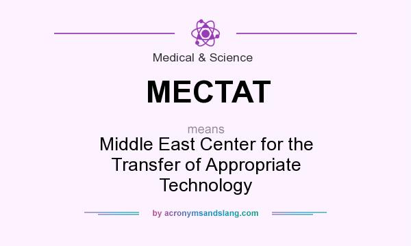 What does MECTAT mean? It stands for Middle East Center for the Transfer of Appropriate Technology