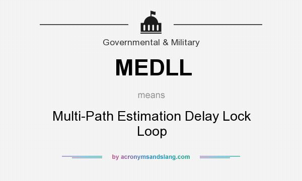What does MEDLL mean? It stands for Multi-Path Estimation Delay Lock Loop