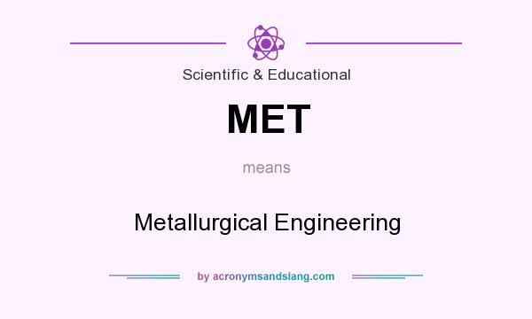 What does MET mean? It stands for Metallurgical Engineering