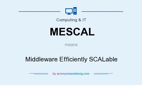 What does MESCAL mean? It stands for Middleware Efficiently SCALable
