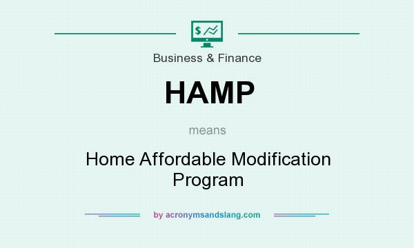 What does HAMP mean? It stands for Home Affordable Modification Program