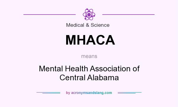 What does MHACA mean? It stands for Mental Health Association of Central Alabama