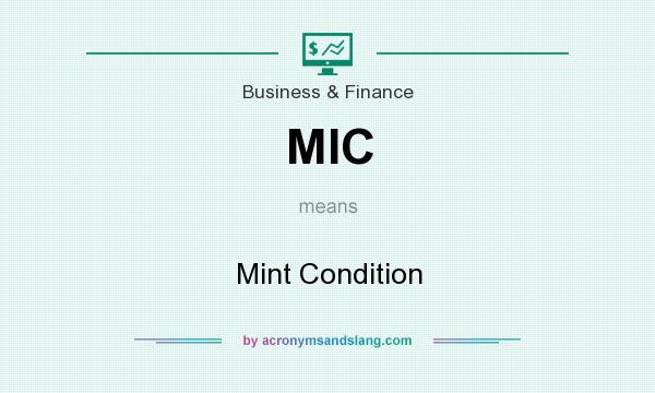 What does MIC mean? It stands for Mint Condition