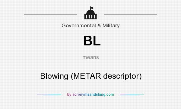 What does BL mean? It stands for Blowing (METAR descriptor)