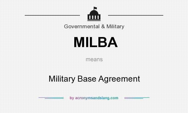 Milba Military Base Agreement In Government Military By