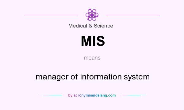 What does MIS mean? It stands for manager of information system