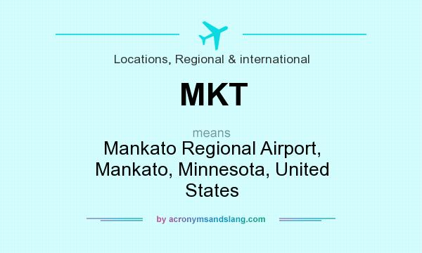 What does MKT mean? It stands for Mankato Regional Airport, Mankato, Minnesota, United States