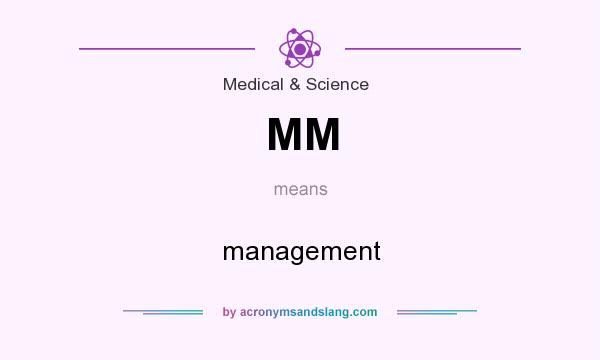 What does MM mean? It stands for management