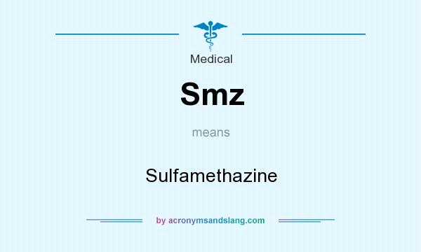 What does Smz mean? It stands for Sulfamethazine