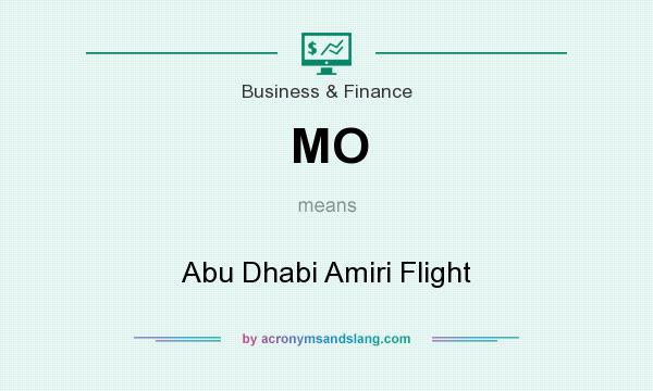 What does MO mean? It stands for Abu Dhabi Amiri Flight