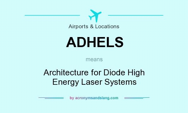What does ADHELS mean? It stands for Architecture for Diode High Energy Laser Systems