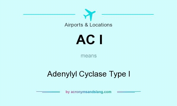 What does AC I mean? It stands for Adenylyl Cyclase Type I