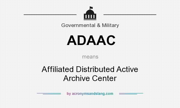 What does ADAAC mean? It stands for Affiliated Distributed Active Archive Center