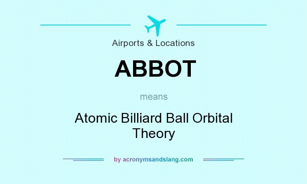 What does ABBOT mean? It stands for Atomic Billiard Ball Orbital Theory