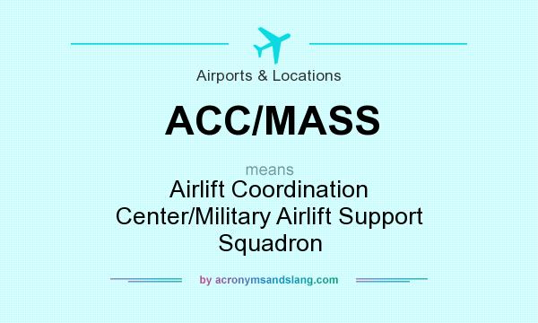 What does ACC/MASS mean? It stands for Airlift Coordination Center/Military Airlift Support Squadron