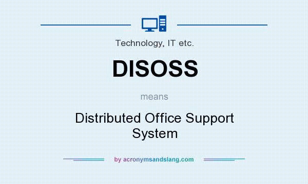 What does DISOSS mean? It stands for Distributed Office Support System